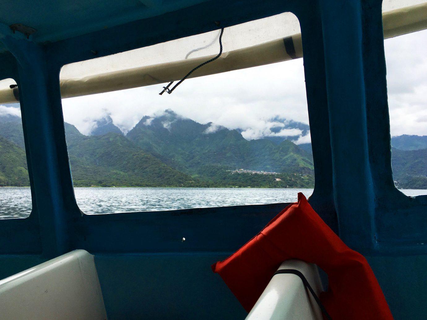 Trip Ideas sky water mountain window Boat vehicle blue overlooking vacation watercraft Sea clouds