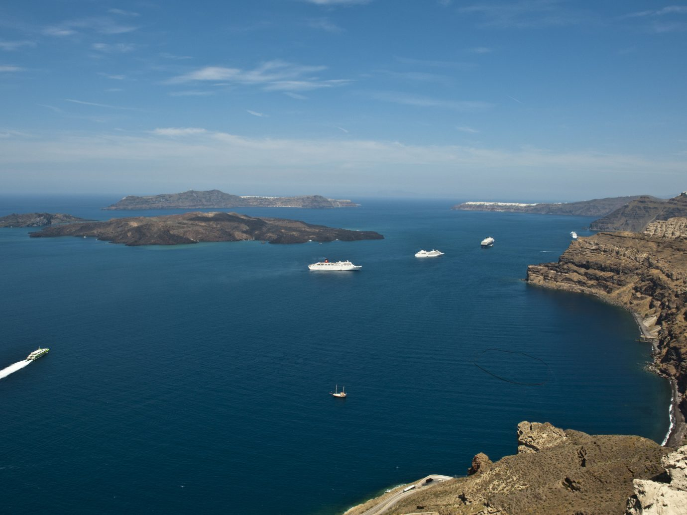 Trip Ideas water sky outdoor Nature Sea mountain coastal and oceanic landforms Coast Boat headland promontory rock cape horizon bay aerial photography peninsula inlet Lake Ocean archipelago Island islet water resources calm reservoir overlooking shore distance hillside day land