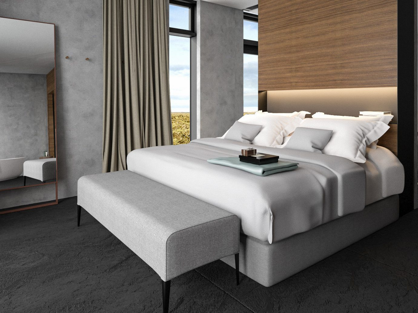 europe Hotels Iceland Trip Ideas floor indoor bed frame bed room furniture Suite Bedroom interior design wall mattress hotel flooring product design box spring comfort interior designer