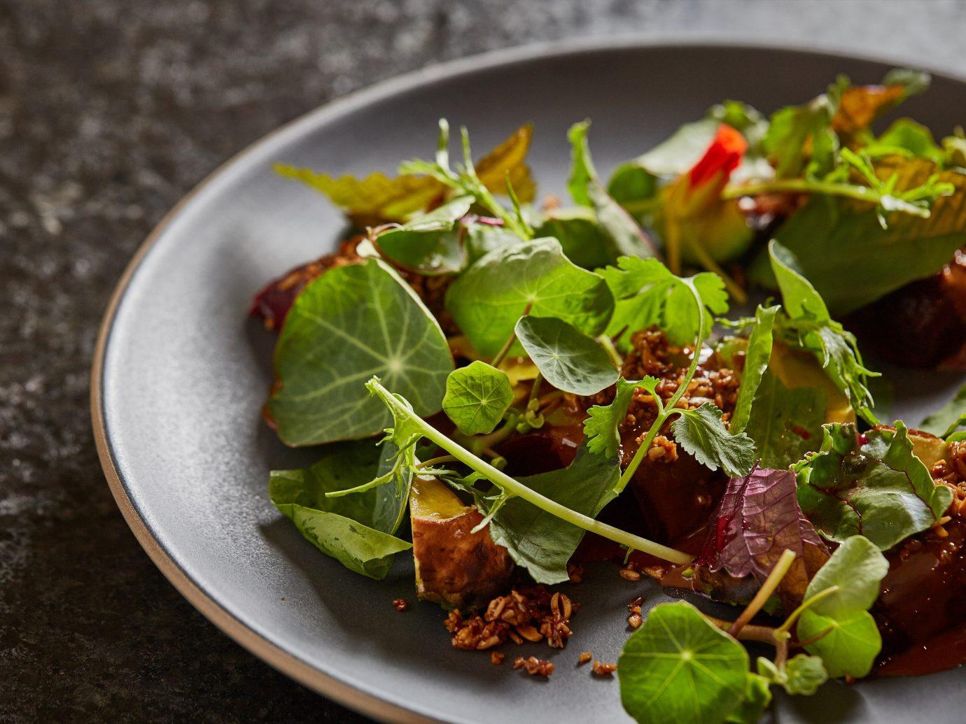 Arts + Culture Food + Drink Hotels Weekend Getaways plate food dish salad produce vegetable slice cuisine leaf vegetable meat flowering plant plant sliced