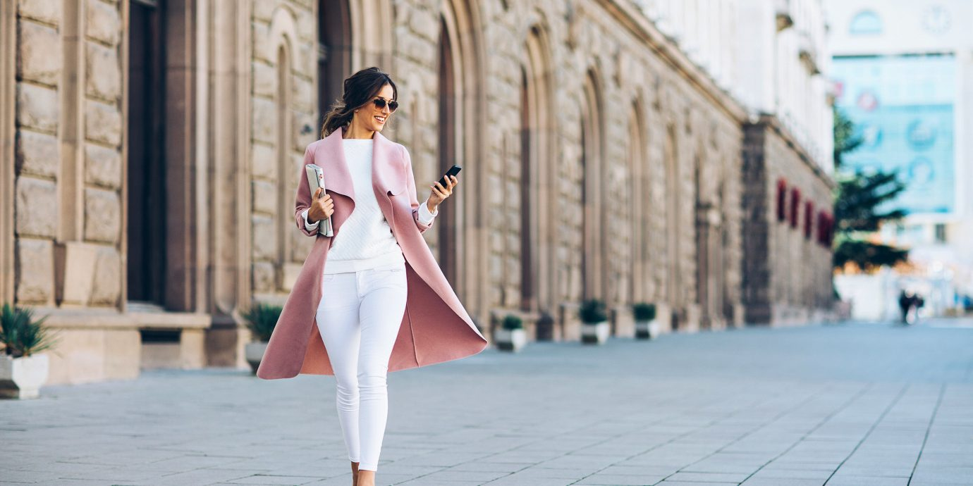 Health + Wellness Travel Tips outdoor building ground way scene clothing white pink infrastructure dress fashion sidewalk outerwear girl costume road shoe street jeans joint stone