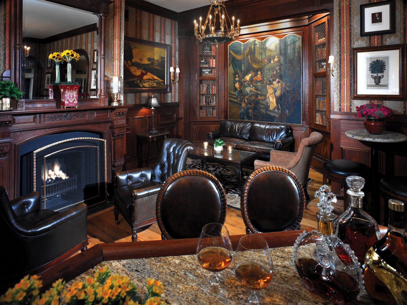 Hotels indoor room Living Bar restaurant interior design meal furniture cluttered dining table