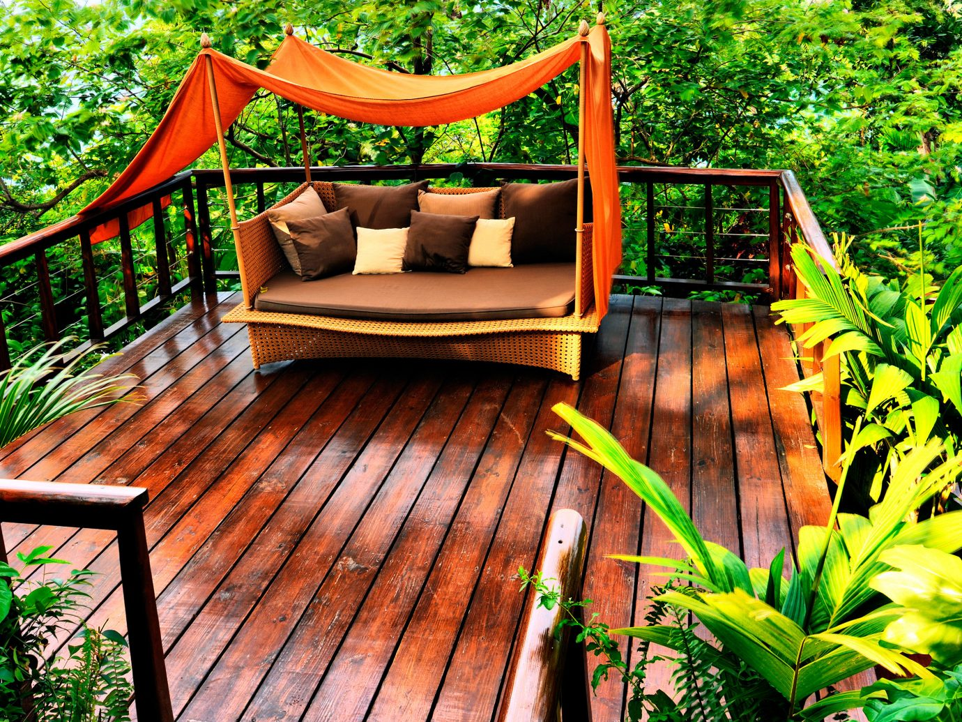 Private deck at Geejam