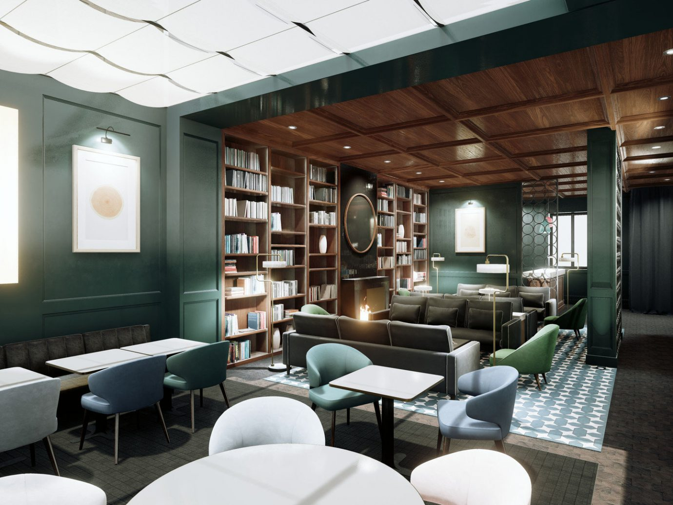 Boutique Hotels cozy Elegant extravagant fancy Hotels library Lounge Luxury regal sophisticated Style + Design stylish indoor floor room ceiling chair hotel interior design conference hall furniture living room Lobby Design estate convention center area