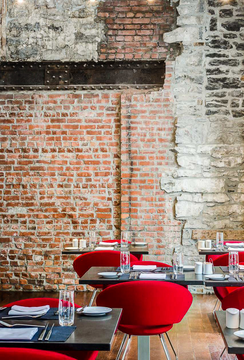 Canada Hotels Montreal Trip Ideas wall brick brickwork chair window table interior design