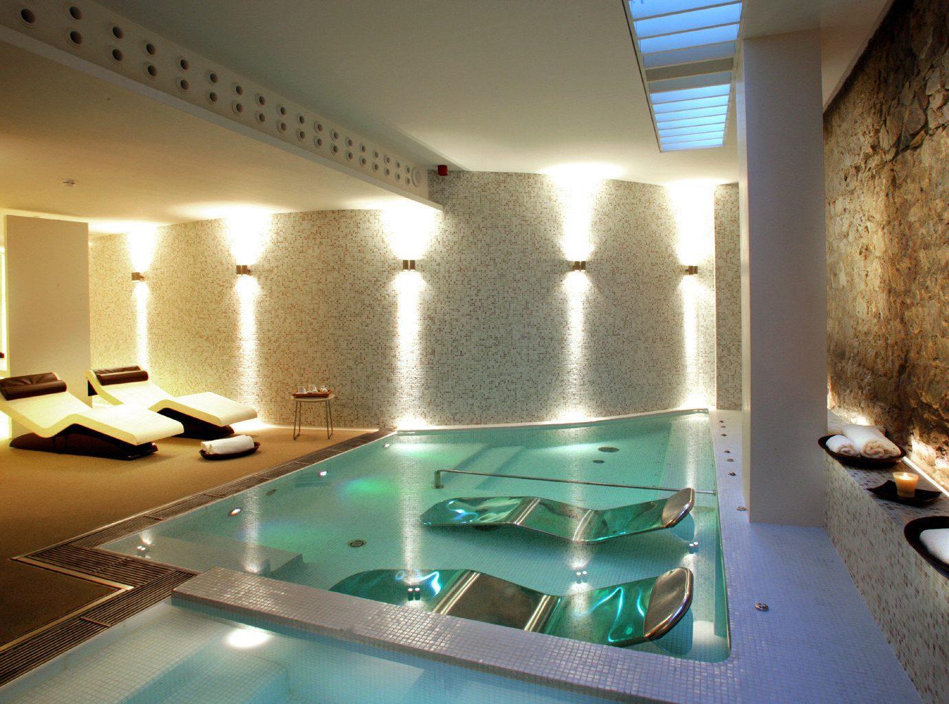 Barcelona Hotels Living Lounge Luxury Modern Pool Spain indoor ceiling wall swimming pool property room estate jacuzzi floor interior design