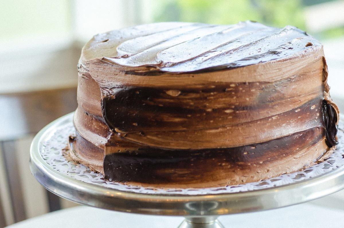 Budget cake table chocolate plate food chocolate cake piece dessert buttercream sachertorte dish flourless chocolate cake icing slice plant baked goods torte ganache cuisine flavor