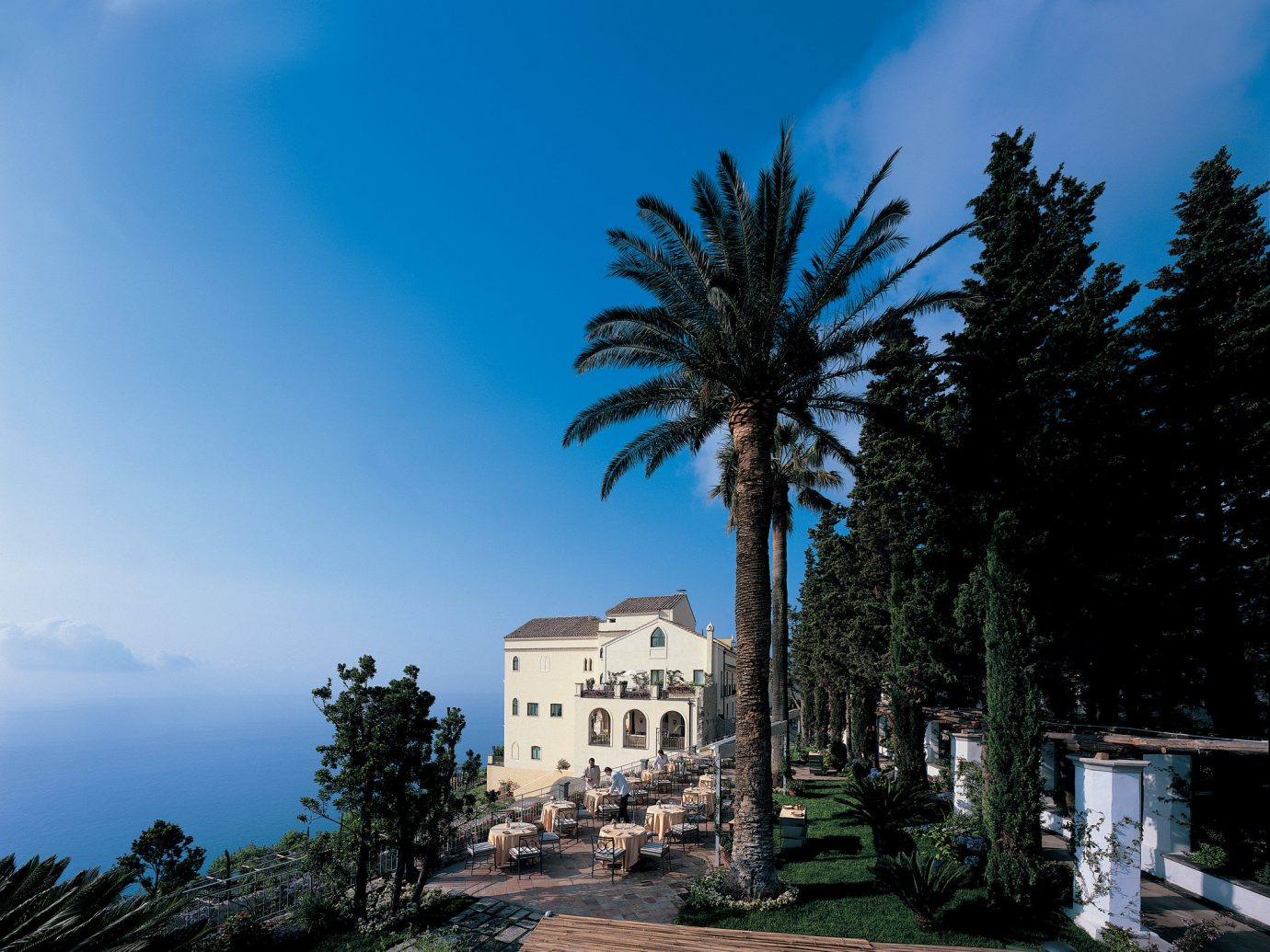 Outdoor dining at Belmond Hotel Caruso, Ravello