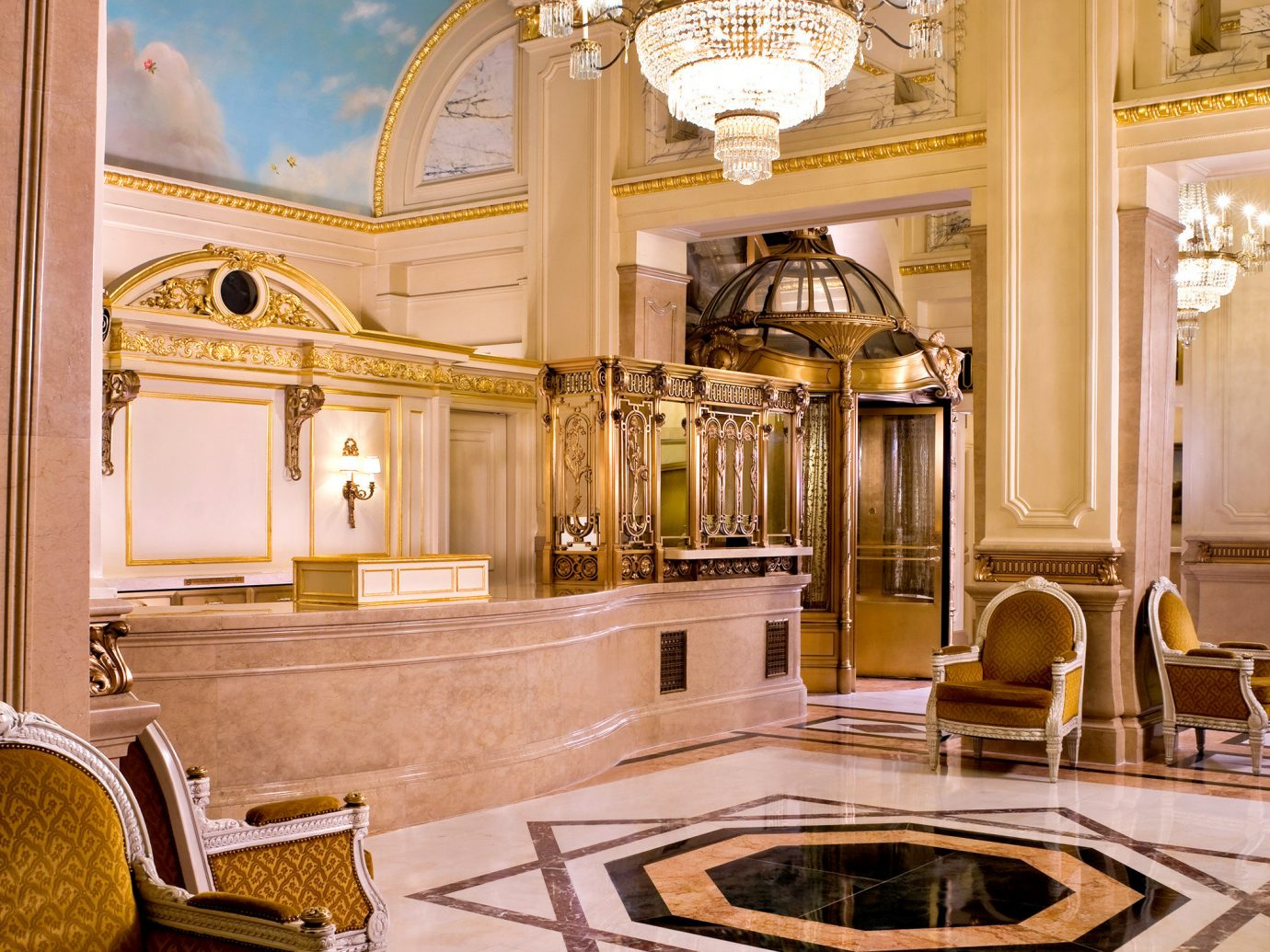 Hotels NYC indoor room property estate home mansion interior design living room ceiling palace cabinetry