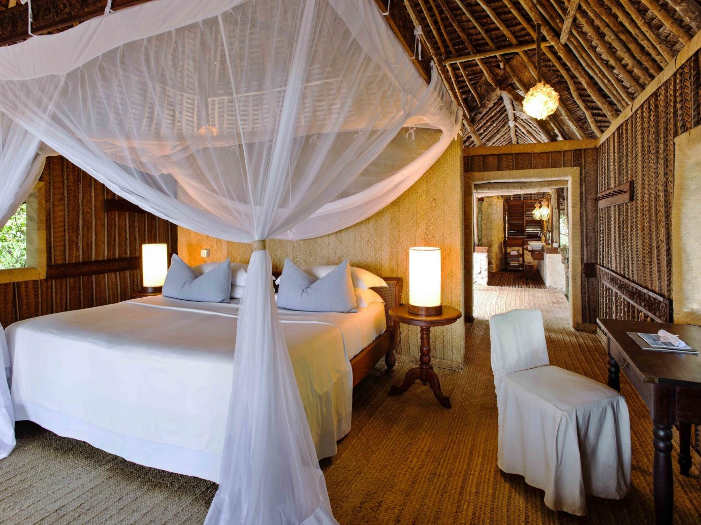 Bedroom at andBeyond Mnemba Island, Zanzibar