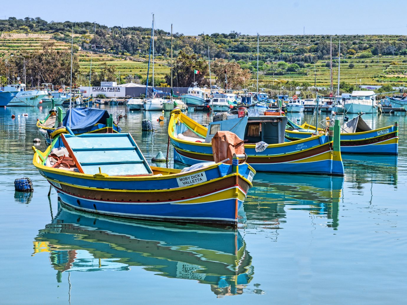 Trip Ideas water Boat sky outdoor scene Harbor vehicle long tail boat Sea boating watercraft rowing vacation fishing vessel watercraft yellow bay colorful colored tied