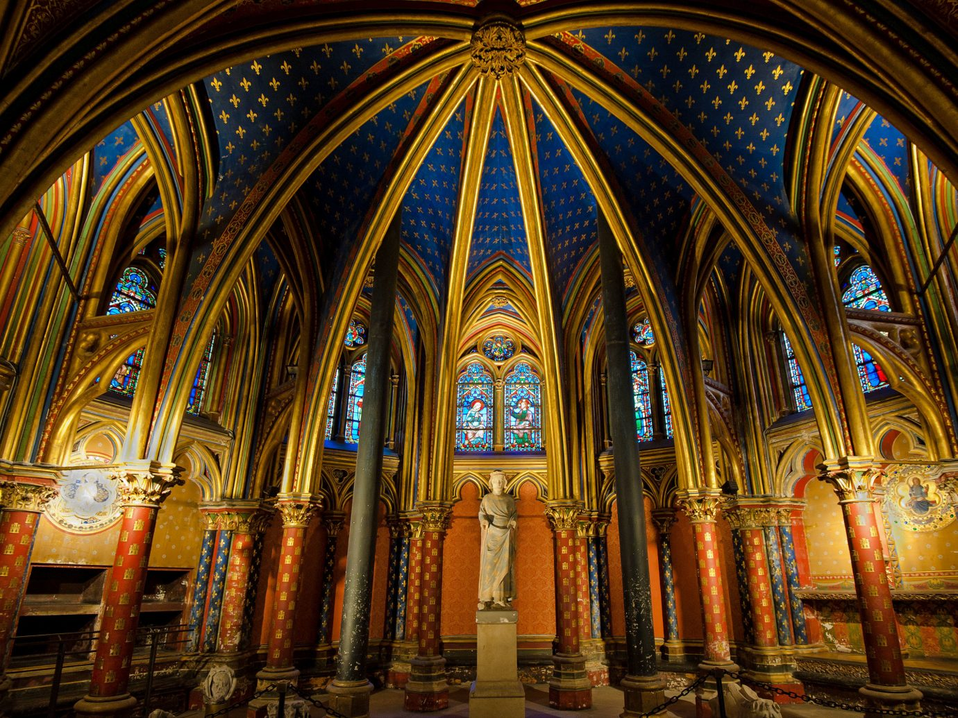 Romance Trip Ideas indoor stained glass chapel building cathedral place of worship landmark basilica column arch Church gothic architecture medieval architecture symmetry religious institute byzantine architecture vault window altar glass religion historic site crypt material worship shrine abbey ceiling several