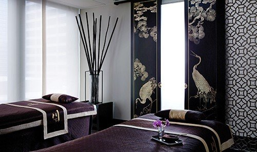 Health + Wellness Hotels Spa Retreats Trip Ideas indoor wall window room property Bedroom black interior design Suite curtain textile cottage furniture living room decorated