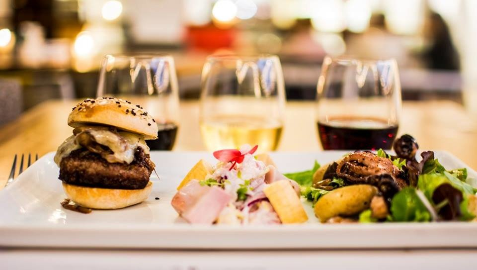 Food + Drink Trip Ideas table plate indoor food brunch meal appetizer hamburger fast food slider dish finger food junk food sandwich breakfast lunch cuisine cheeseburger Drink full breakfast buffalo burger recipe supper fast food restaurant tapas side dish breakfast sandwich different close piece de resistance
