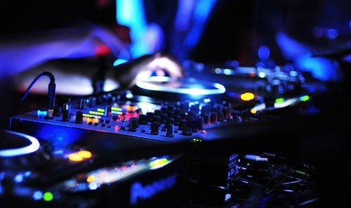Trip Ideas indoor rock concert nightclub disc jockey desk Music stage music venue disco drums kitchen appliance stove
