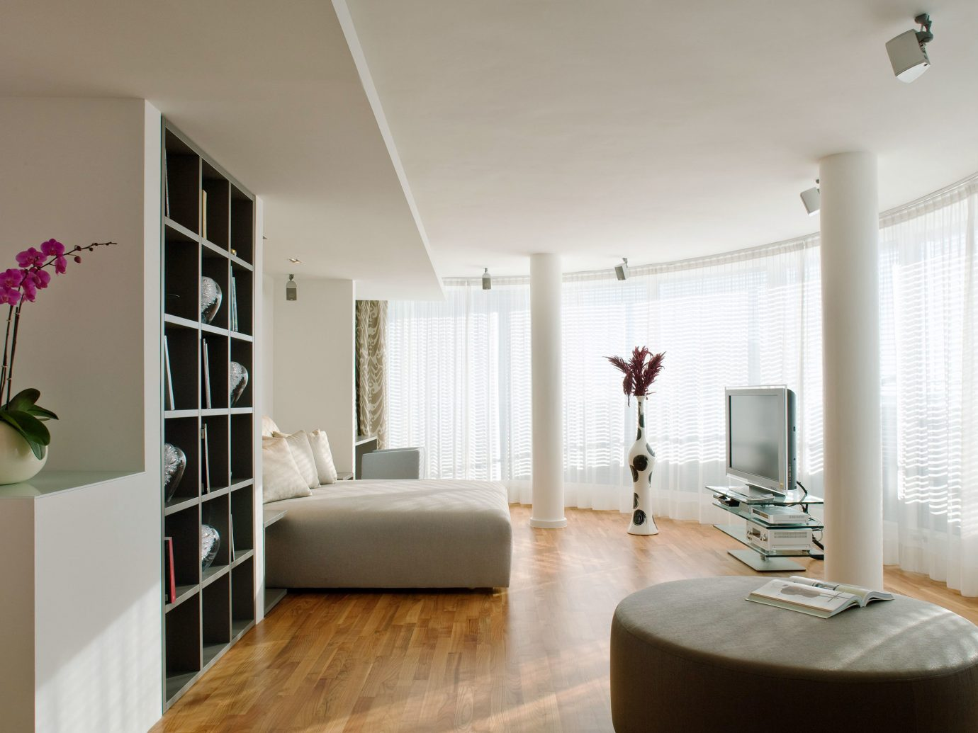 Bedroom Berlin Boutique Hotels City Germany Hotels Luxury Luxury Travel Modern indoor wall floor window room Living property living room home interior design ceiling real estate window covering Design dining room furniture estate apartment condominium decorated