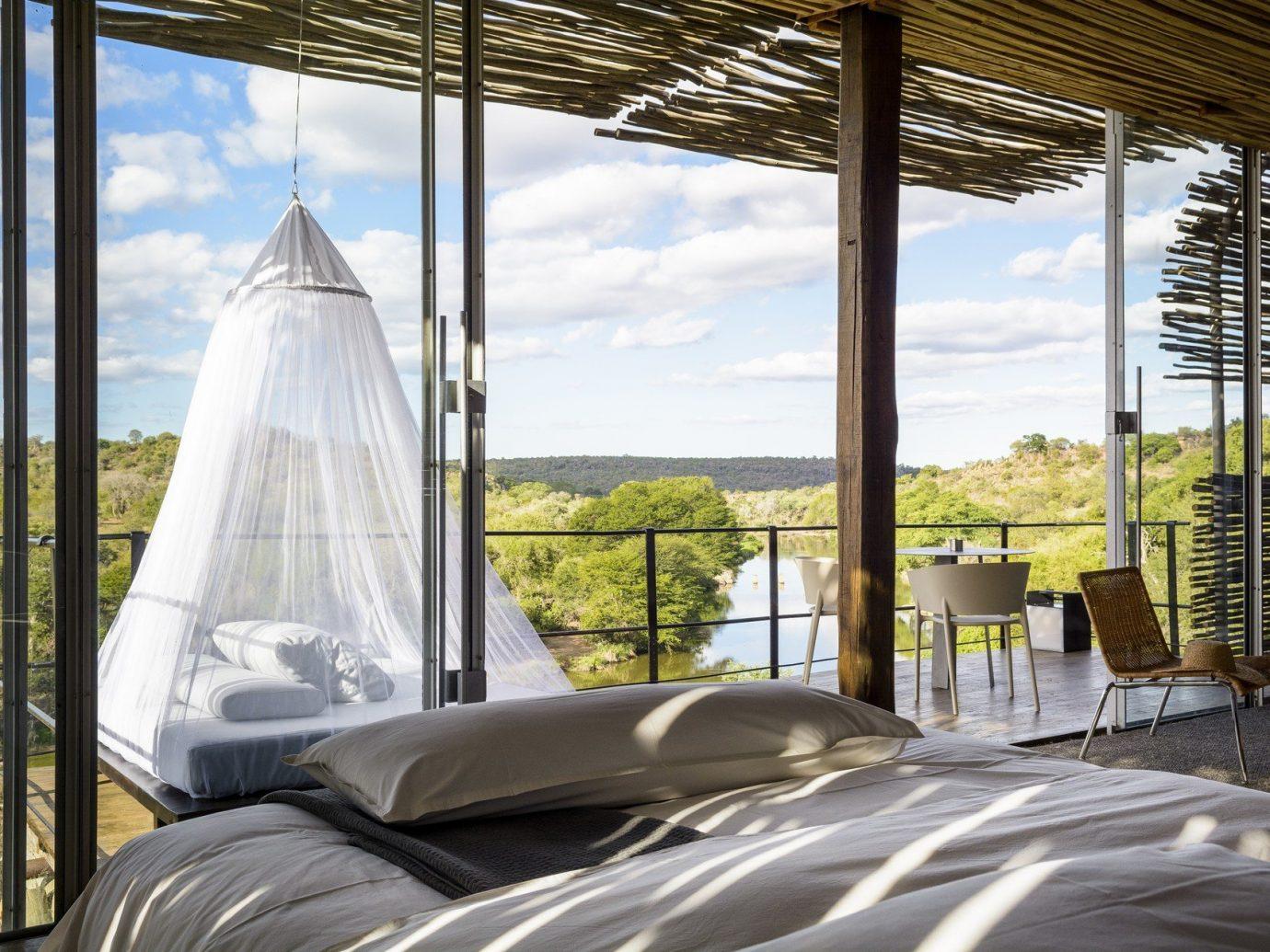 Hotels window indoor property tent bed home estate vacation cottage interior design Resort overlooking Bedroom day