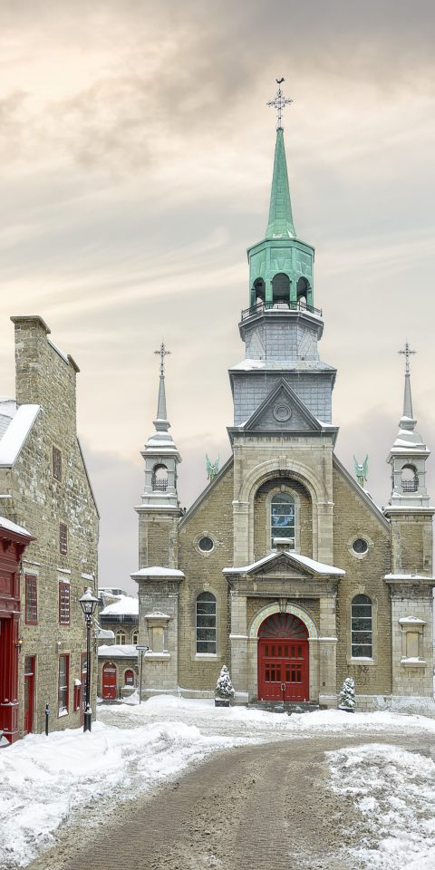 Canada Montreal Toronto Trip Ideas Weekend Getaways snow outdoor building sky Town Winter landmark Church steeple City facade freezing spire tree window place of worship chapel medieval architecture day