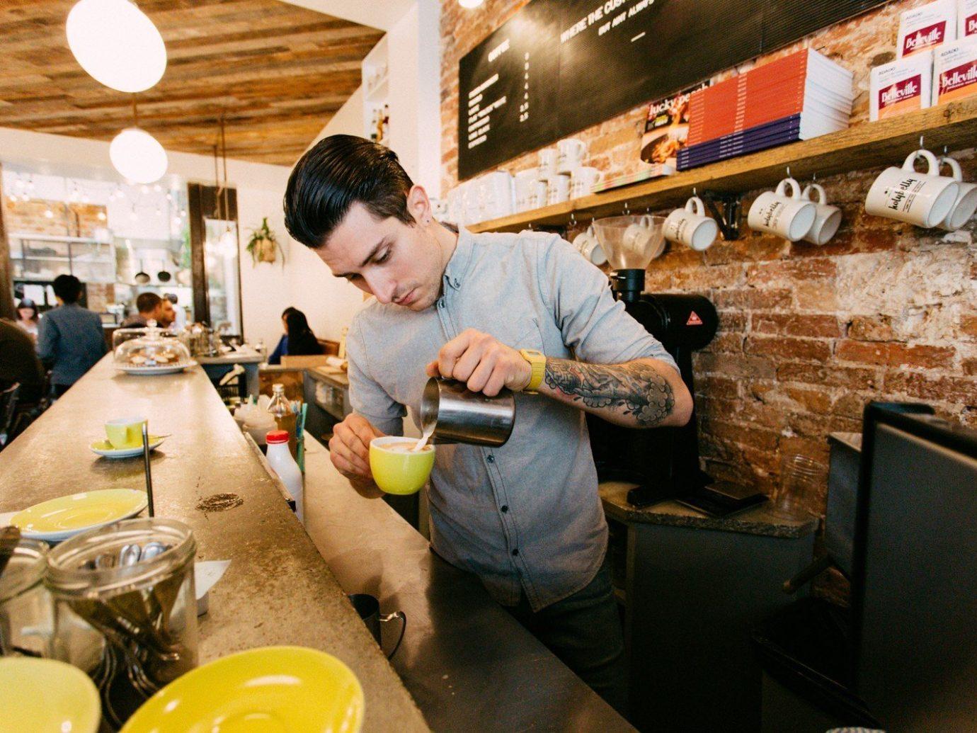 Food + Drink person indoor man meal restaurant sense food preparing
