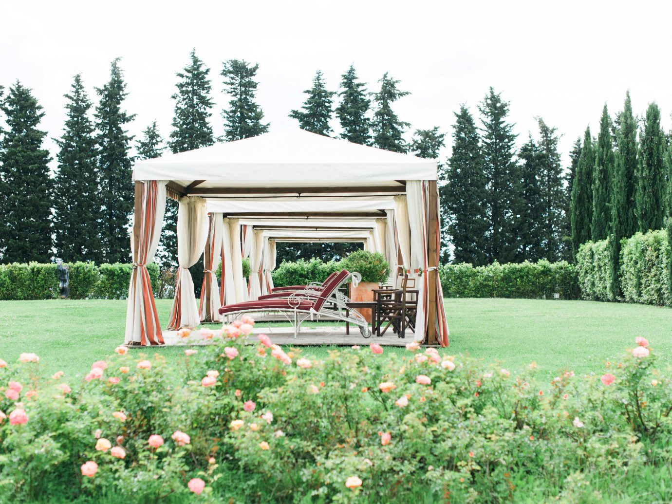 Boutique Classic Country Elegant Grounds Historic Honeymoon Romance Romantic Trip Ideas Vineyard Winery tree grass sky outdoor backyard gazebo log cabin cottage Garden home outdoor structure yard lawn estate woodland house decorated