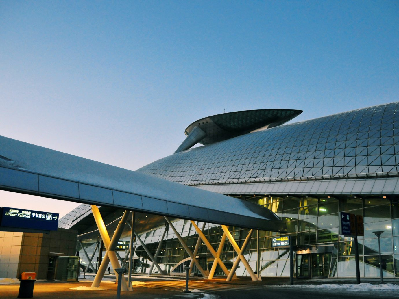 Travel Tips sky outdoor structure building sport venue Architecture atmosphere of earth aviation airplane stadium convention center airport arena headquarters aircraft