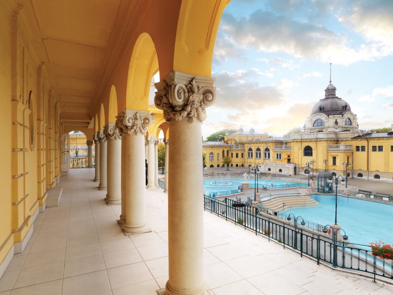 Architecture building Buildings City city views columns Elegant europe Exterior extravagant fancy Historic Luxury outdoor pool Pool regal sophisticated Trip Ideas view palace vacation estate plaza temple ancient history walkway colonnade