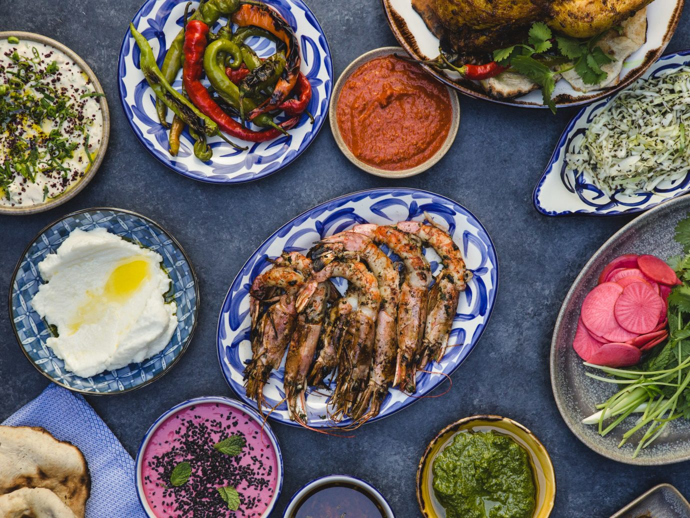 Food + Drink food plate table dish meal bowl different cuisine many vegetable vegetarian food meze Seafood lunch asian food recipe appetizer leaf vegetable items side dish middle eastern food various several set containing meat plastic