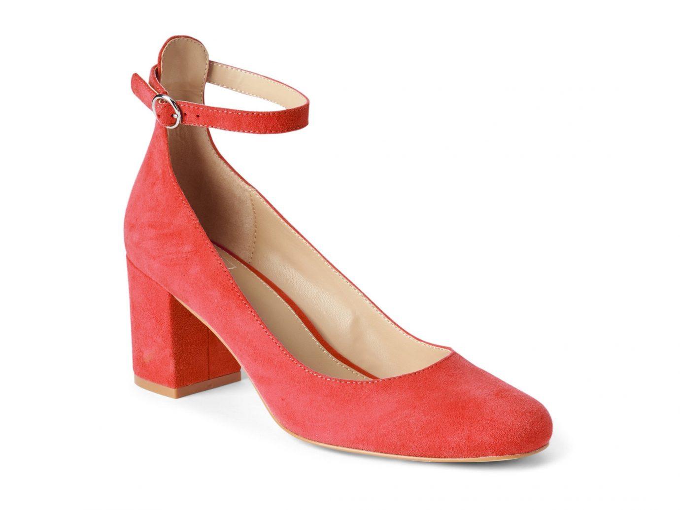 France Style + Design Travel Shop footwear high heeled footwear shoe basic pump sandal suede peach product design product