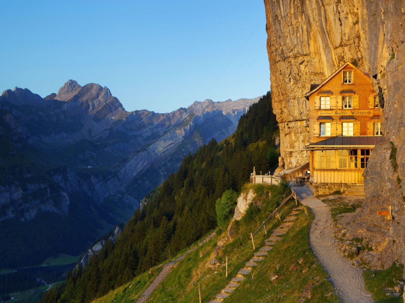Trip Ideas mountain outdoor mountainous landforms landform Nature mountain range tourism alps valley autumn terrain hillside lush surrounded