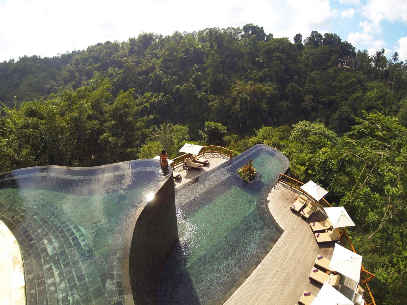 Elegant Hip Luxury Modern Pool Trip Ideas tree sky outdoor water tourism estate reservoir waterway