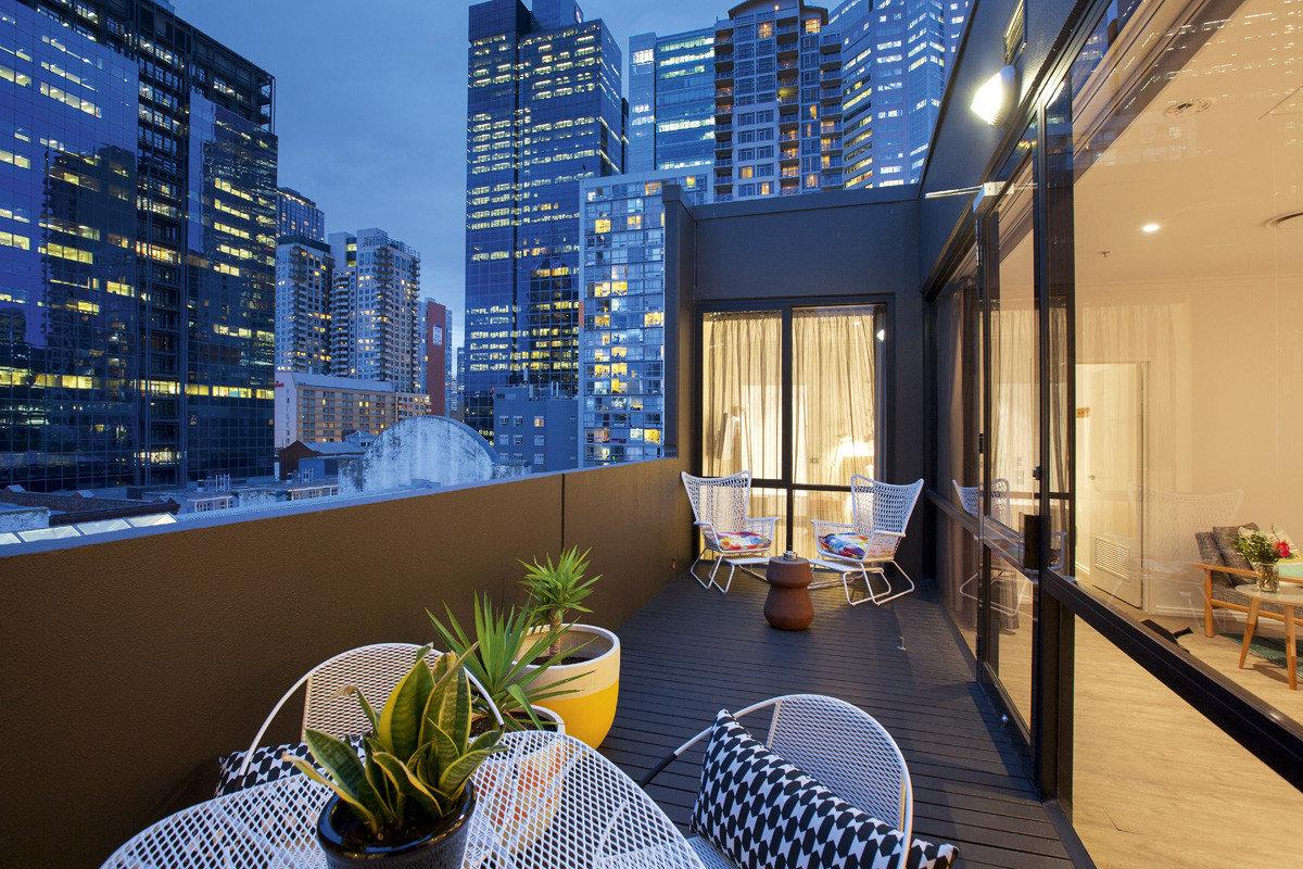Australia Hotels Melbourne Architecture interior design apartment condominium real estate home window Balcony penthouse apartment building hotel mixed use