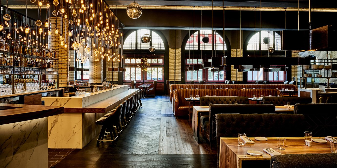 Arts + Culture Boutique Hotels City Jetsetter Guides floor indoor restaurant interior design Bar tavern café table dining room