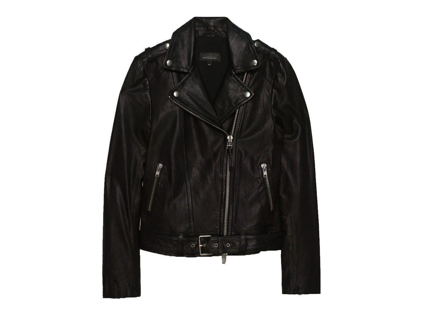 Style + Design jacket clothing leather jacket leather black textile material outerwear coat sleeve