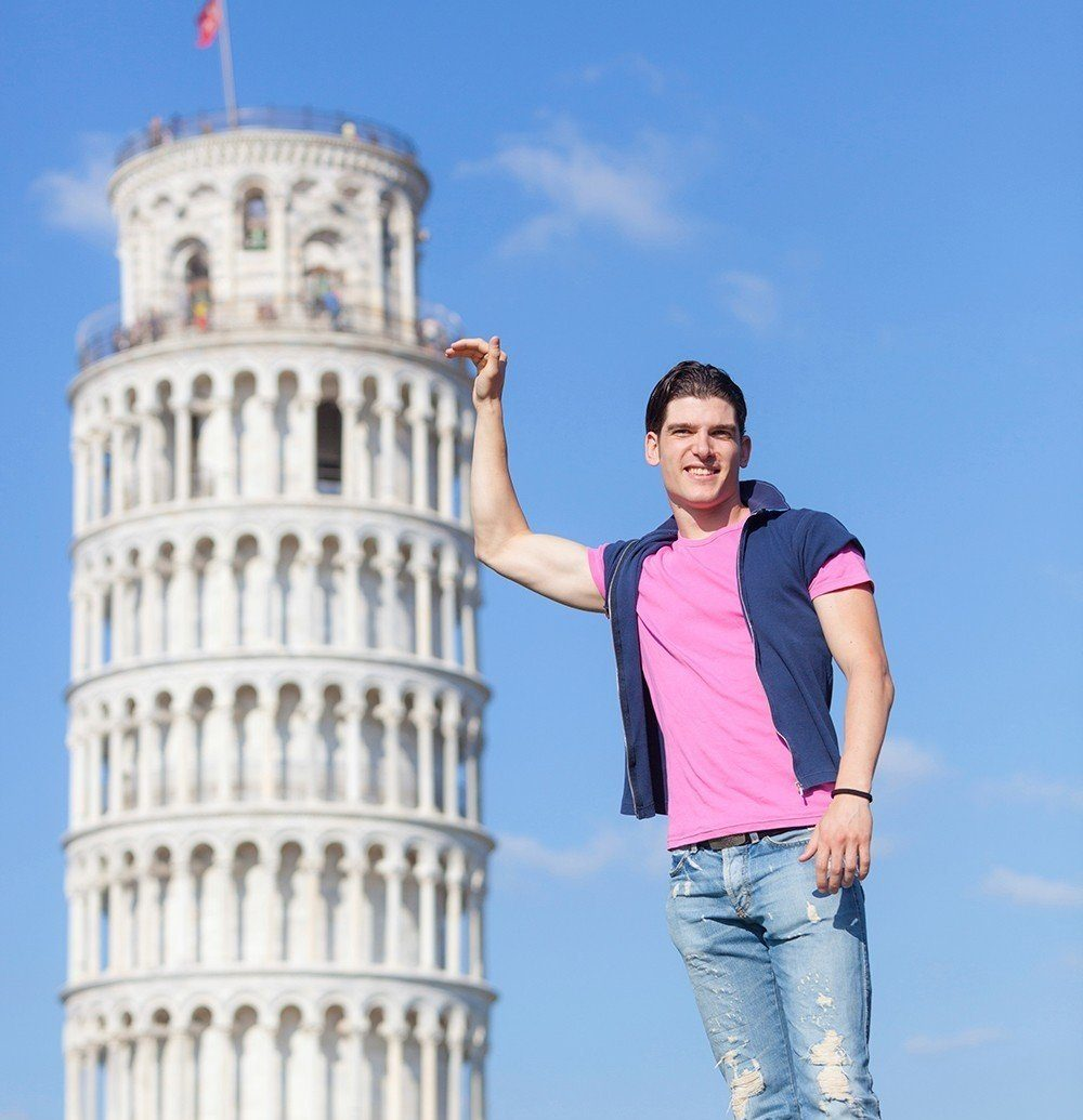 Offbeat sky outdoor person standing tower