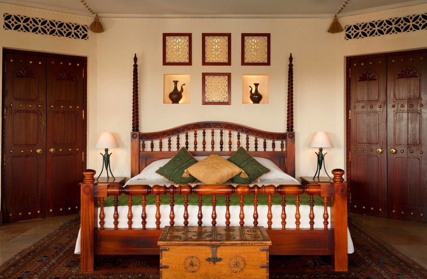 Dubai Hotels Luxury Travel Middle East furniture room bed frame interior design bed home estate Bedroom product real estate window