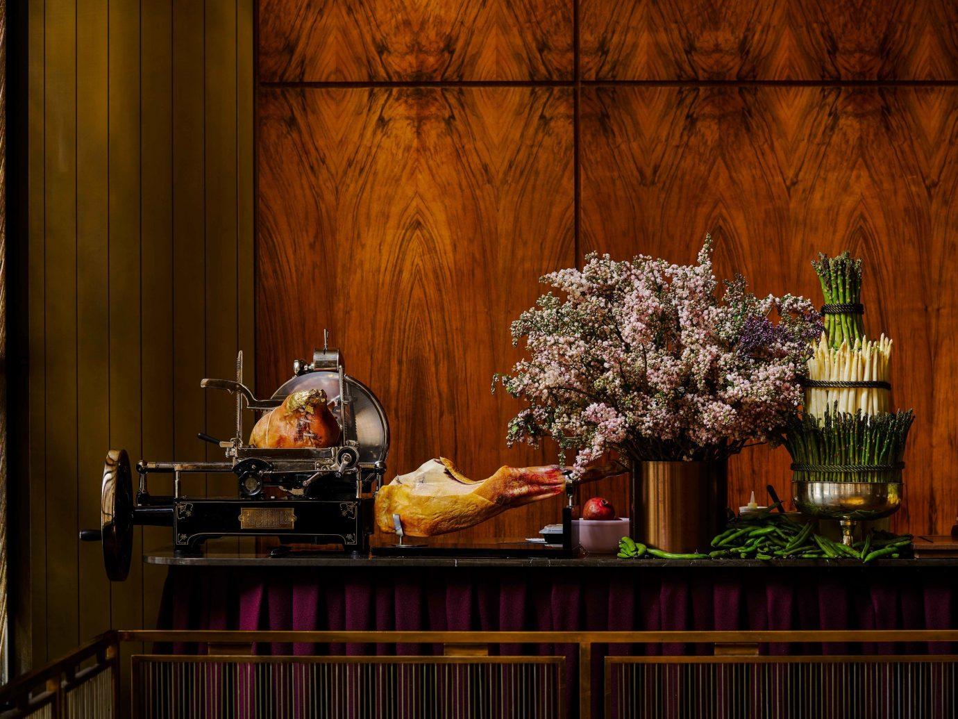 Food + Drink indoor flower still life still life photography interior design night restaurant window altar