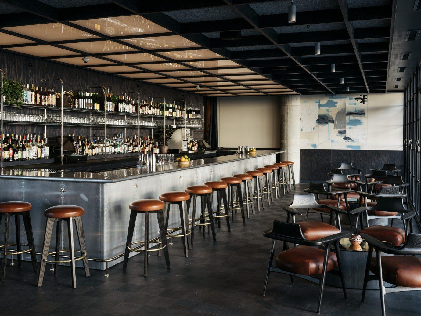 Food + Drink floor indoor table ceiling chair restaurant interior design Bar dining room several