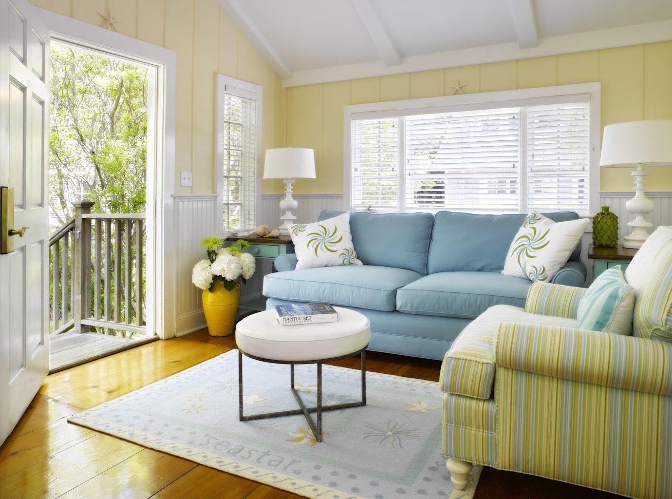 Living room at White Elephant Inn, Nantucket