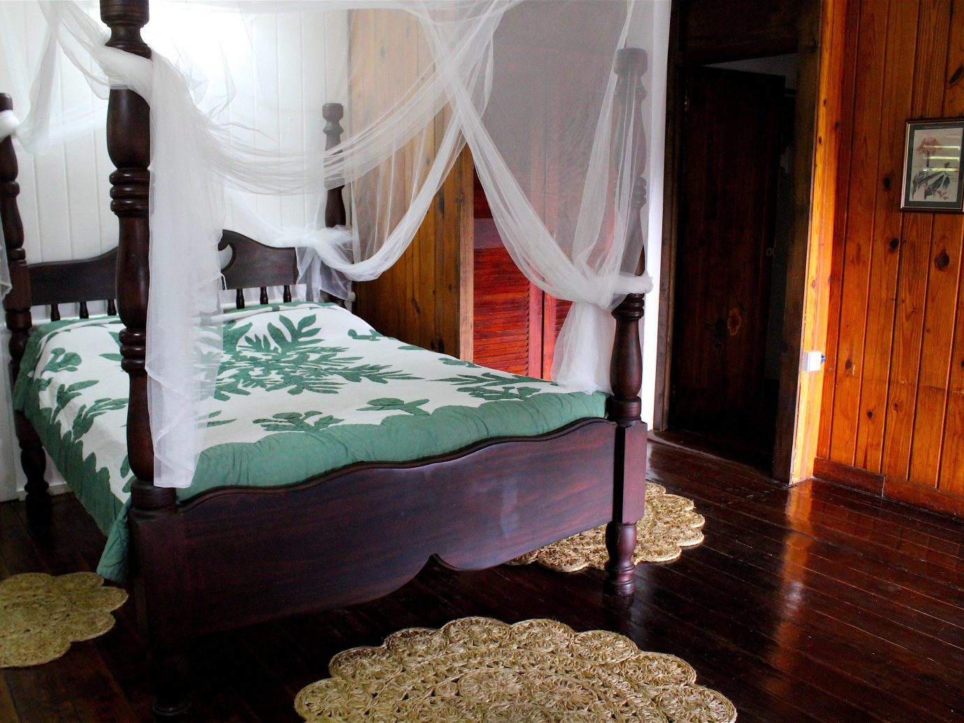 Trip Ideas mosquito net indoor floor room bed house furniture interior design Bedroom cottage