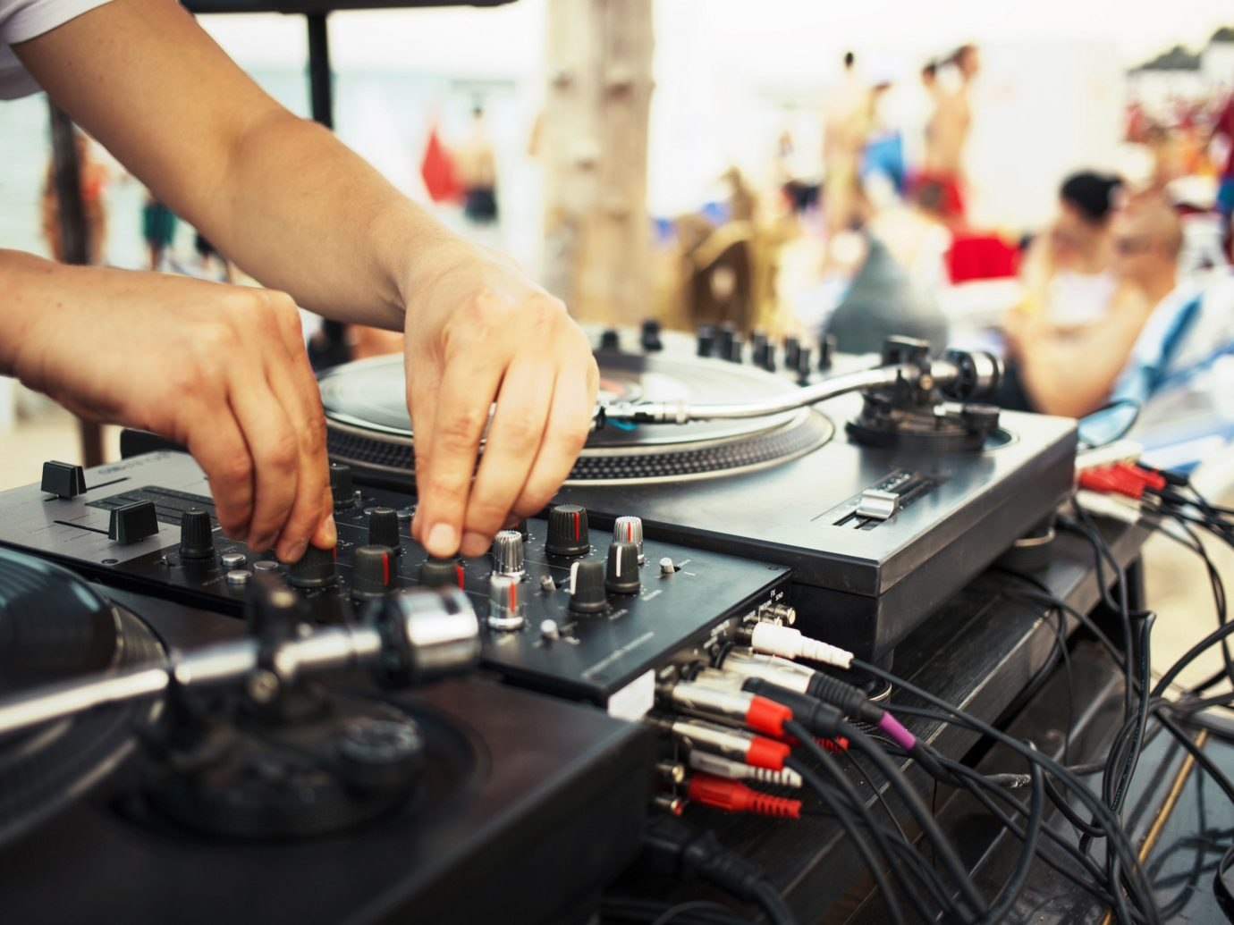 Arts + Culture person indoor disc jockey electronics cooking