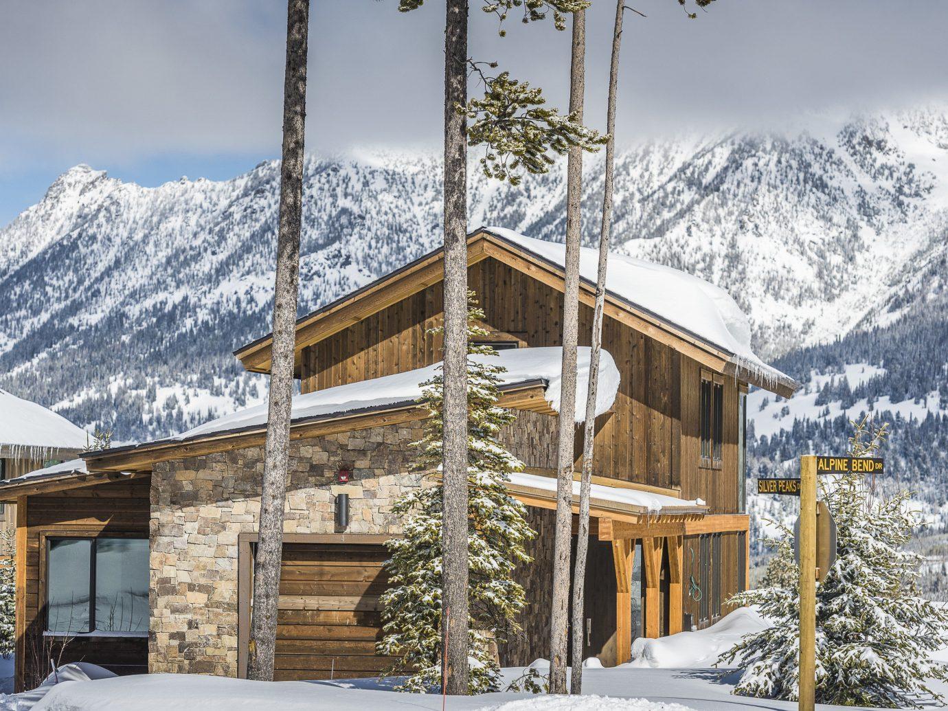 Hotels snow mountain sky outdoor Winter Resort weather mountain range piste season log cabin home house alps area