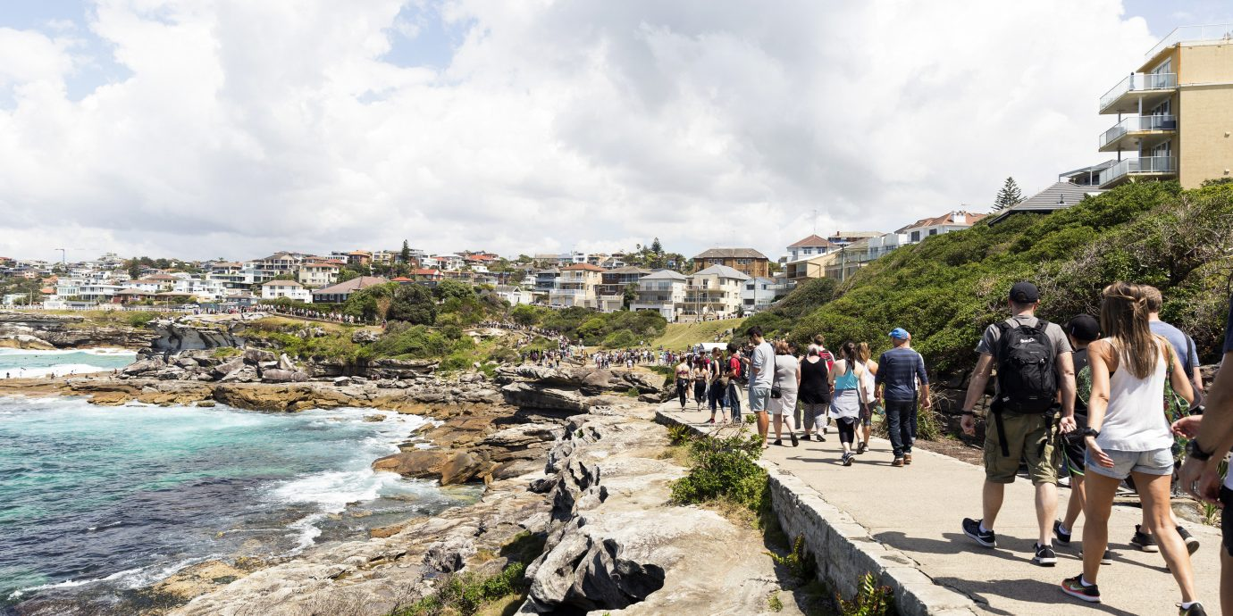 Outdoors + Adventure Sydney sky outdoor body of water Coast Sea water Nature people Beach tourism shore City Ocean tree coastal and oceanic landforms travel rock bay cloud plant leisure vacation day
