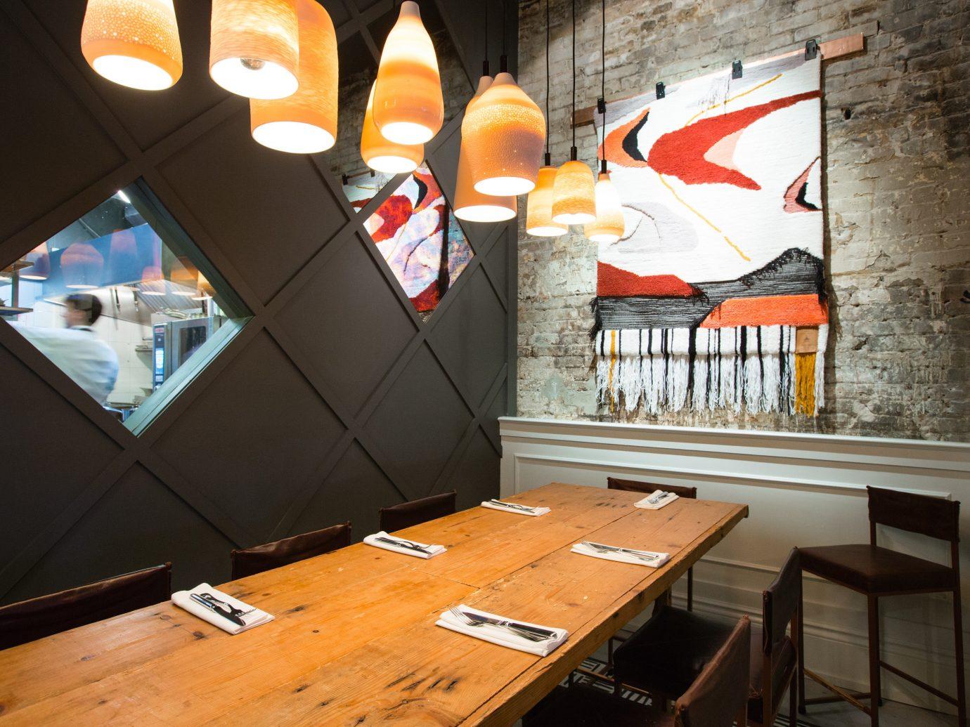 Food + Drink indoor room wall art interior design Design living room