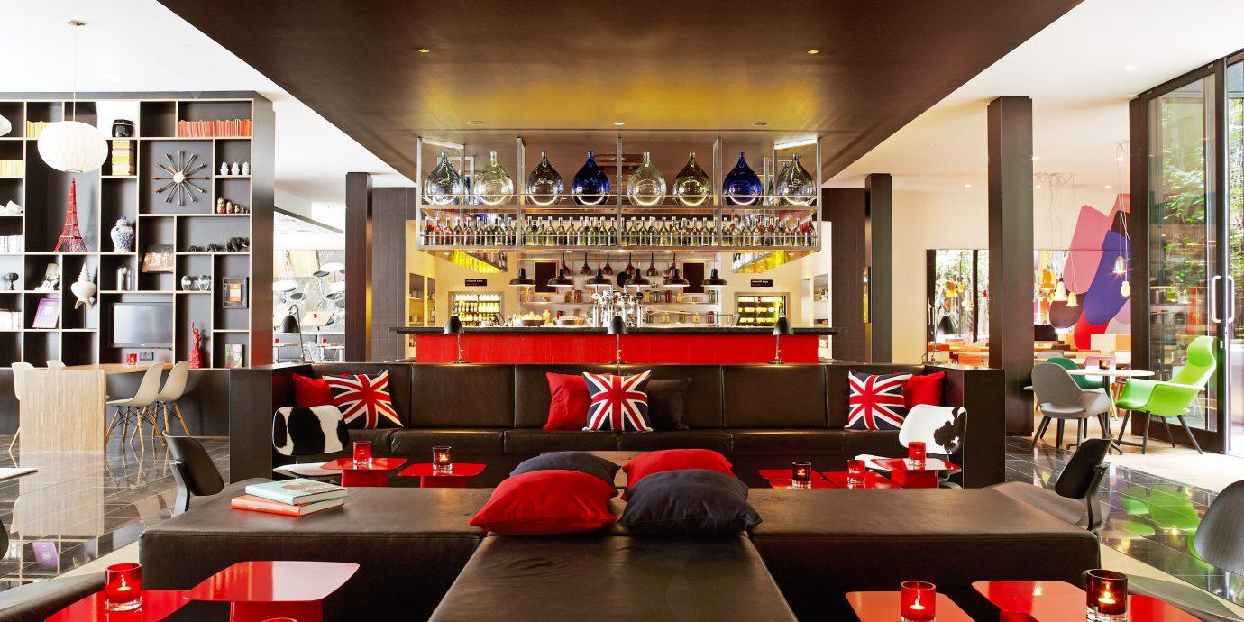 Budget Hotels London ceiling indoor table window room restaurant interior design Design Bar area office several