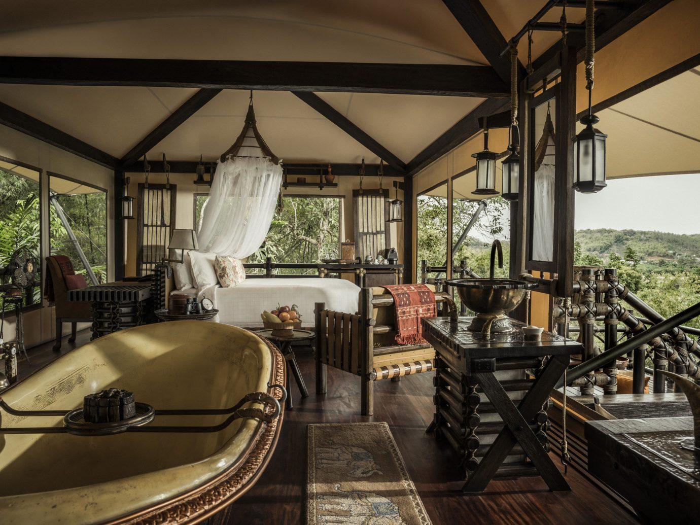 Hotels Luxury Travel Trip Ideas indoor room building estate Resort restaurant home vehicle cottage interior design Villa furniture several