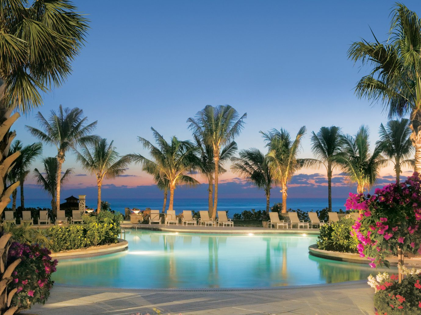 Beachfront Grounds Pool Trip Ideas Tropical tree outdoor palm sky swimming pool property Resort leisure estate vacation arecales plant Villa lined real estate bay mansion Garden bushes shore surrounded