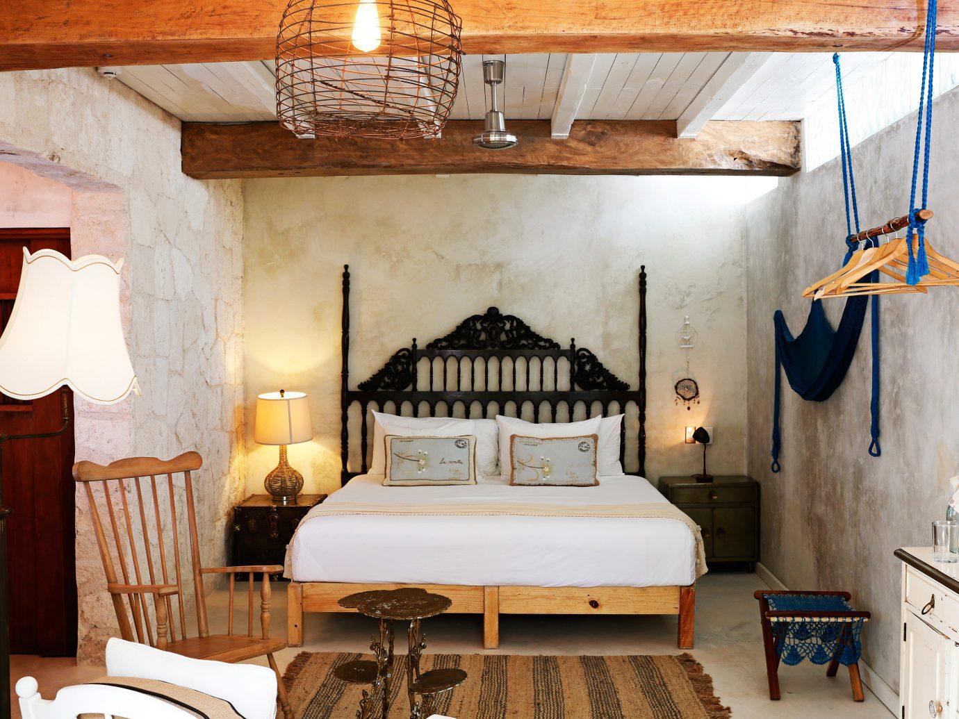 Bedroom at Hotel La Semilla, Playa del Carmen, Mexico