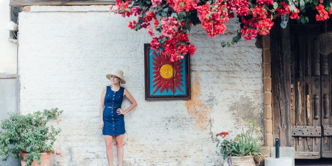 Influencers + Tastemakers Travel Shop Trip Ideas flower red pink photograph plant girl dress tree vacation floristry flower arranging spring street house