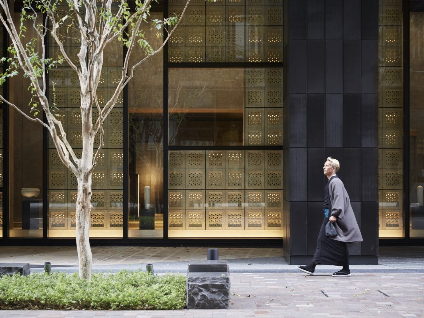 Hotels Japan Tokyo building outdoor sidewalk urban area Architecture street facade tourist attraction interior design statue
