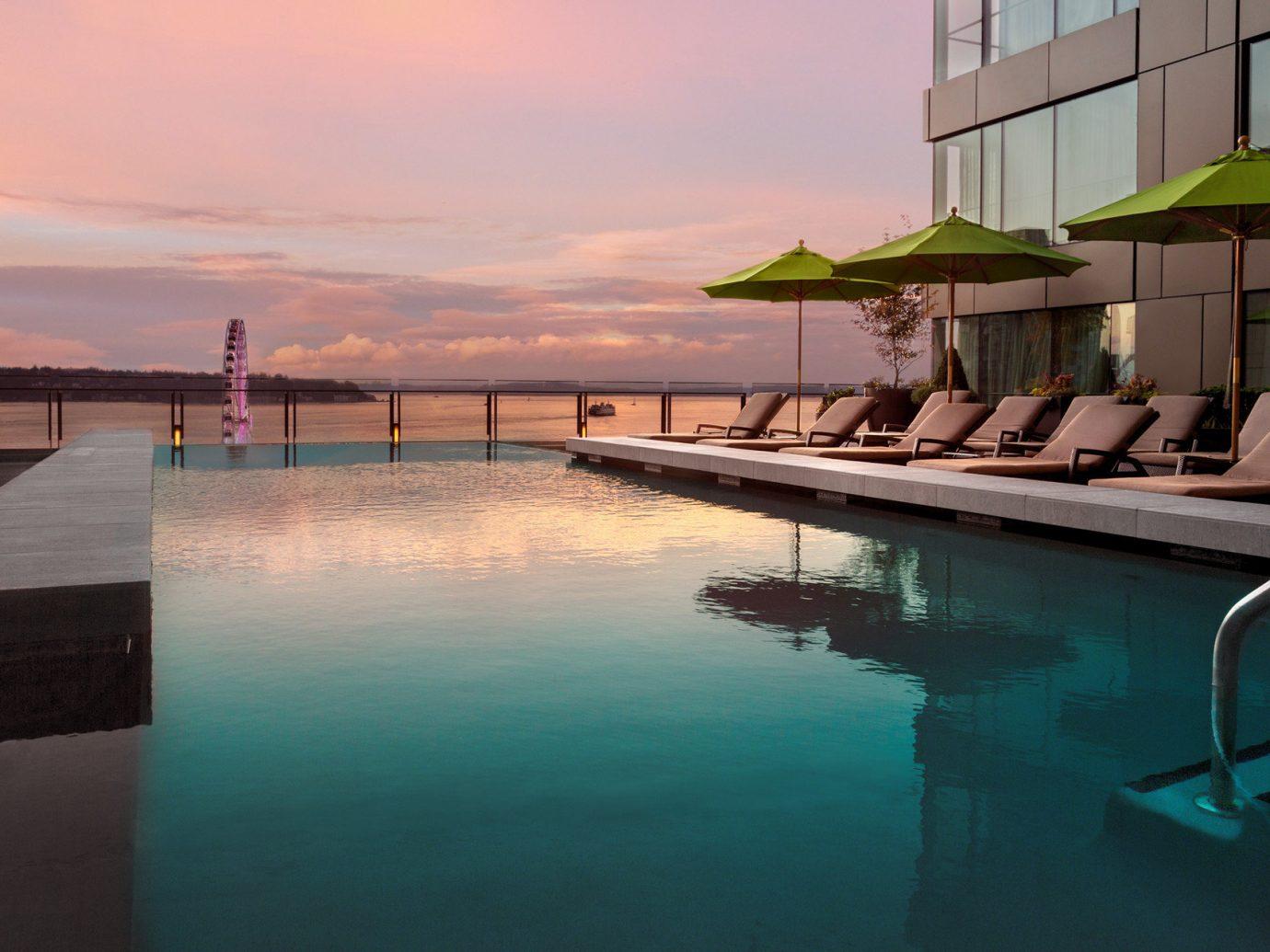 Hotels water sky outdoor swimming pool property scene vacation Sea Ocean Resort estate condominium dock Villa lined several